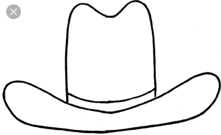 Farmers Hat - Felt Board Template