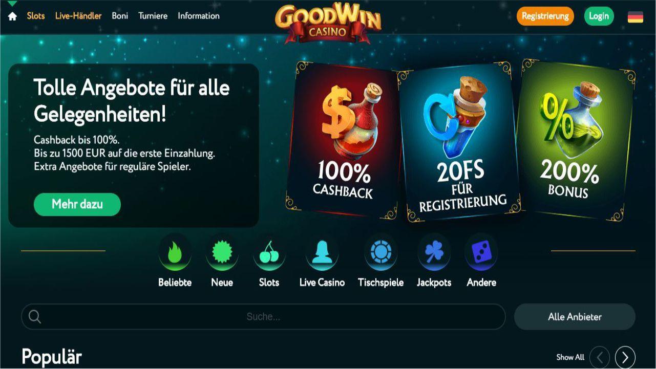 Willkommen bei einem ganz neuen online Casino. Der Goodwin Casino Bonus ist als erstes…