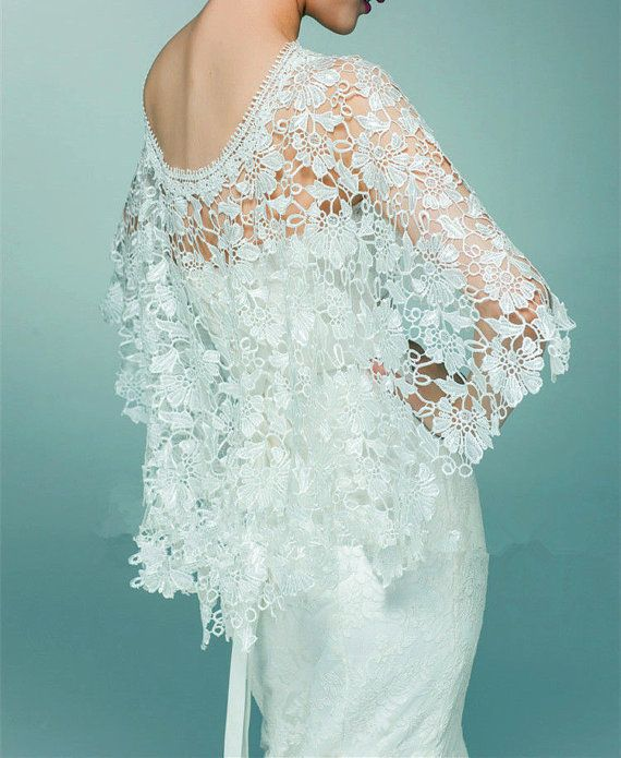 Lace Cover Up Wedding Cover Up Bridal Cover Up White by ctroum ...