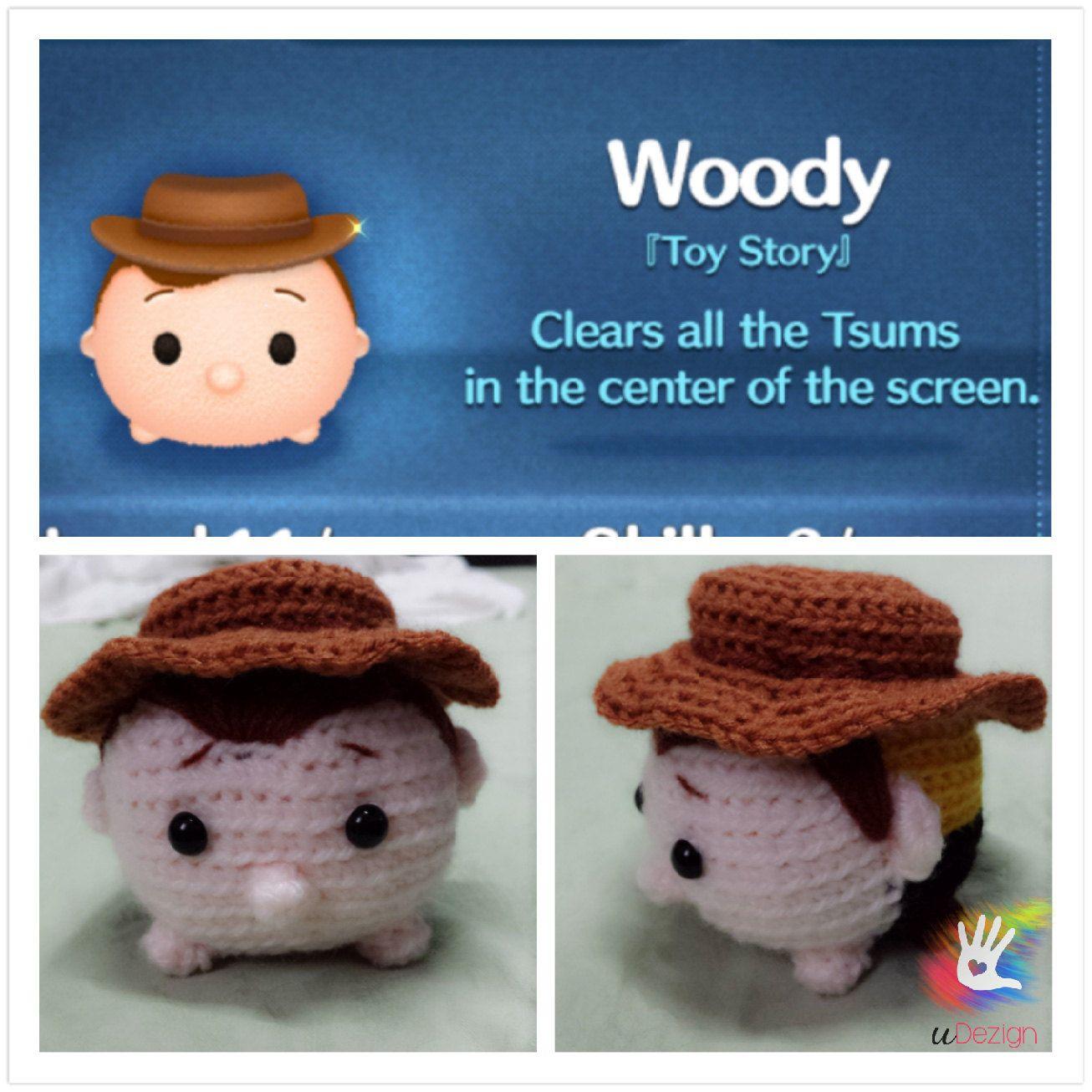 Tsum Tsum Disney Amigurumi : Tsum Tsum Woody Pattern Woody and Patterns