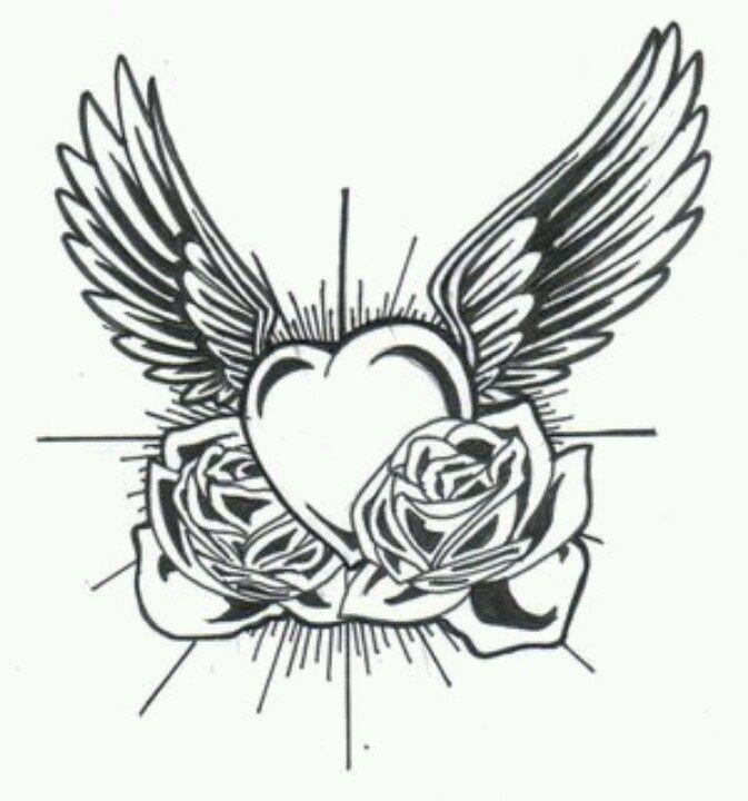 Traditional Angel Wing Tattoos Google Search Tatouage Coeur