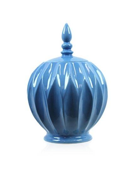 Love this color.    Urban Trends Collection Ceramic Jar with Lid, Light Blue, http://www.myhabit.com/ref=cm_sw_r_pi_mh_i?hash=page%3Dd%26dept%3Dhome%26sale%3DA1I9ZYG1PS21A8%26asin%3DB007SYNRLK%26cAsin%3DB007SYNRLK