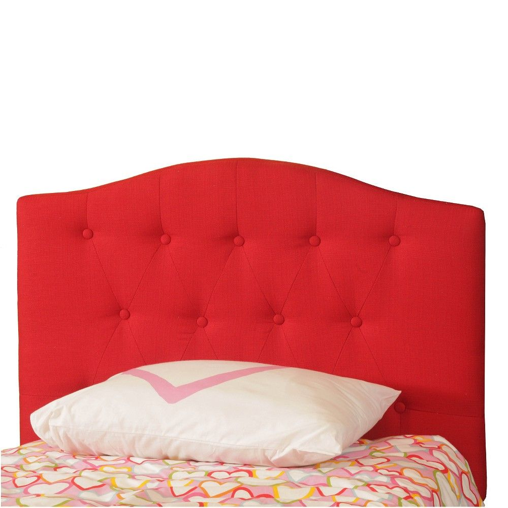 Button Tufted Kids Headboard Red (Twin) - Powell Company   Pinterest