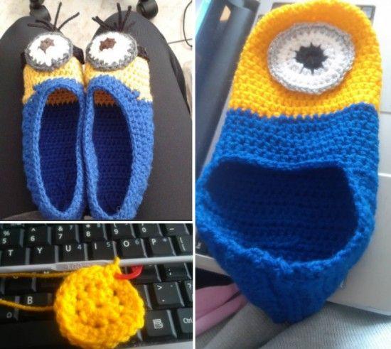Crochet Minion Booties Pattern Is One Of Many   WHOot Best Crochet ...