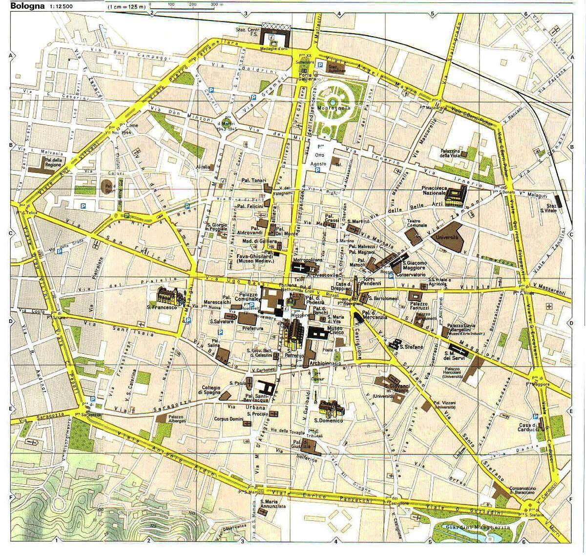 Map of Bologna EJ Emilia Romagna Italy Pinterest Bologna