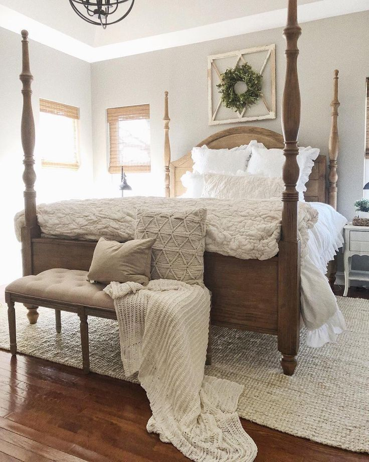 Joss And Main And Jordan S Furniture Magnolia Four Poster Bed In 2019 Four Poster Bed Bedroom