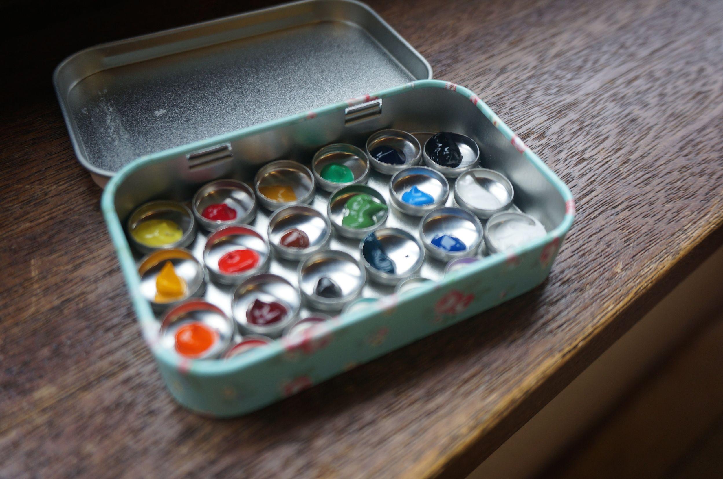 Diy Portable Watercolor Palette Watercolor Kit Watercolor