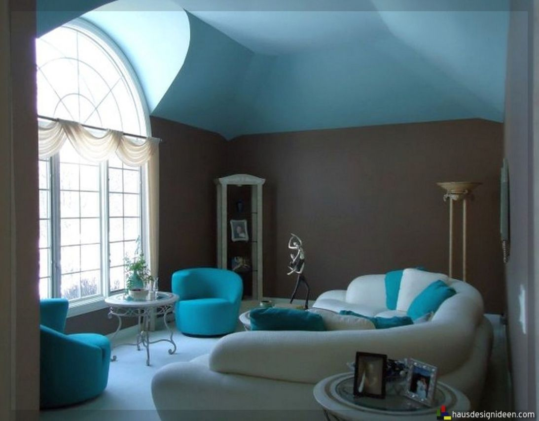 Wunderbar Ehrfürchtig Wohnzimmer Ideen Grau Türkis