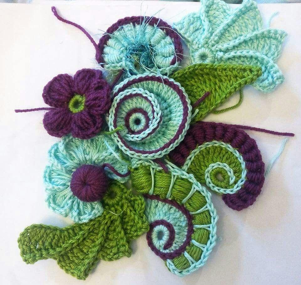 Love freeform   Cortinas   Pinterest   Puntos crochet, Cordones y ...