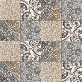 Textures Texture seamless | Patchwork tile texture seamless 16588 | Textures - ARCHITECTURE - TILES INTERIOR - Ornate tiles - Patchwork | Sketchuptexture