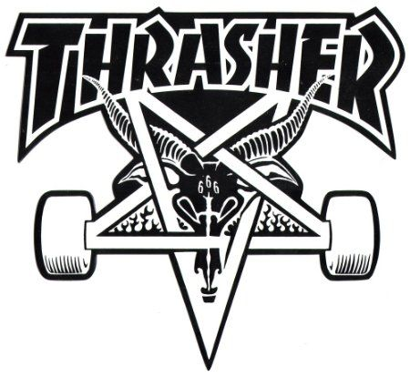 Buy thrasher magazine skate goat pentagram big skateboard sticker 20 5cm high approx in cheap price on alibaba com