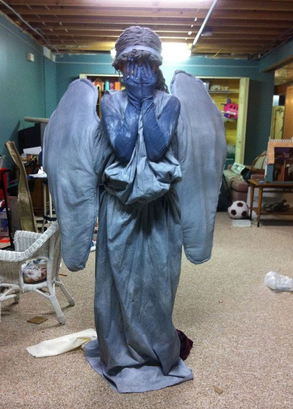 bb diy costumes weeping angel and tiny dalek holy cow i posted