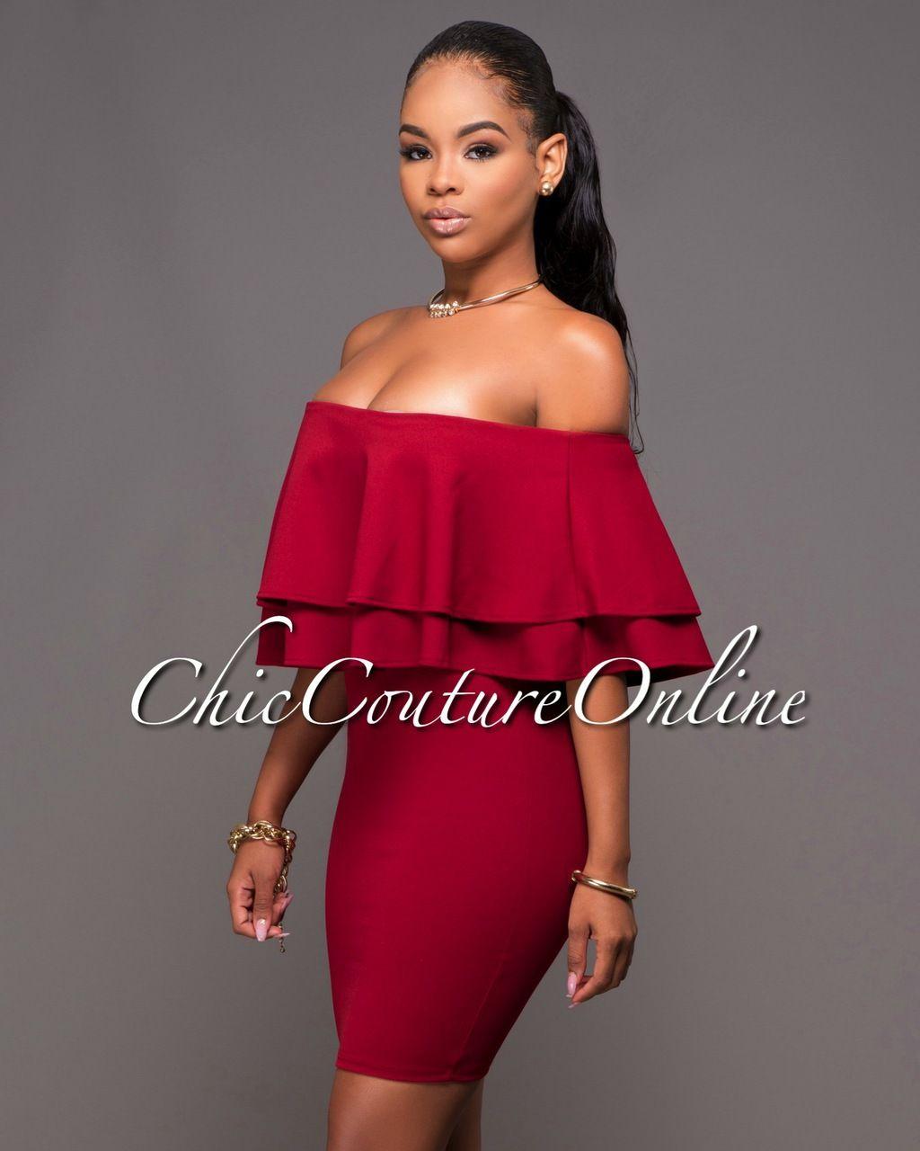 de7a598392999 Choker Dress, Chic Couture Online, Ruffle Dress, Strapless Dress, Ruffles,  Matisse