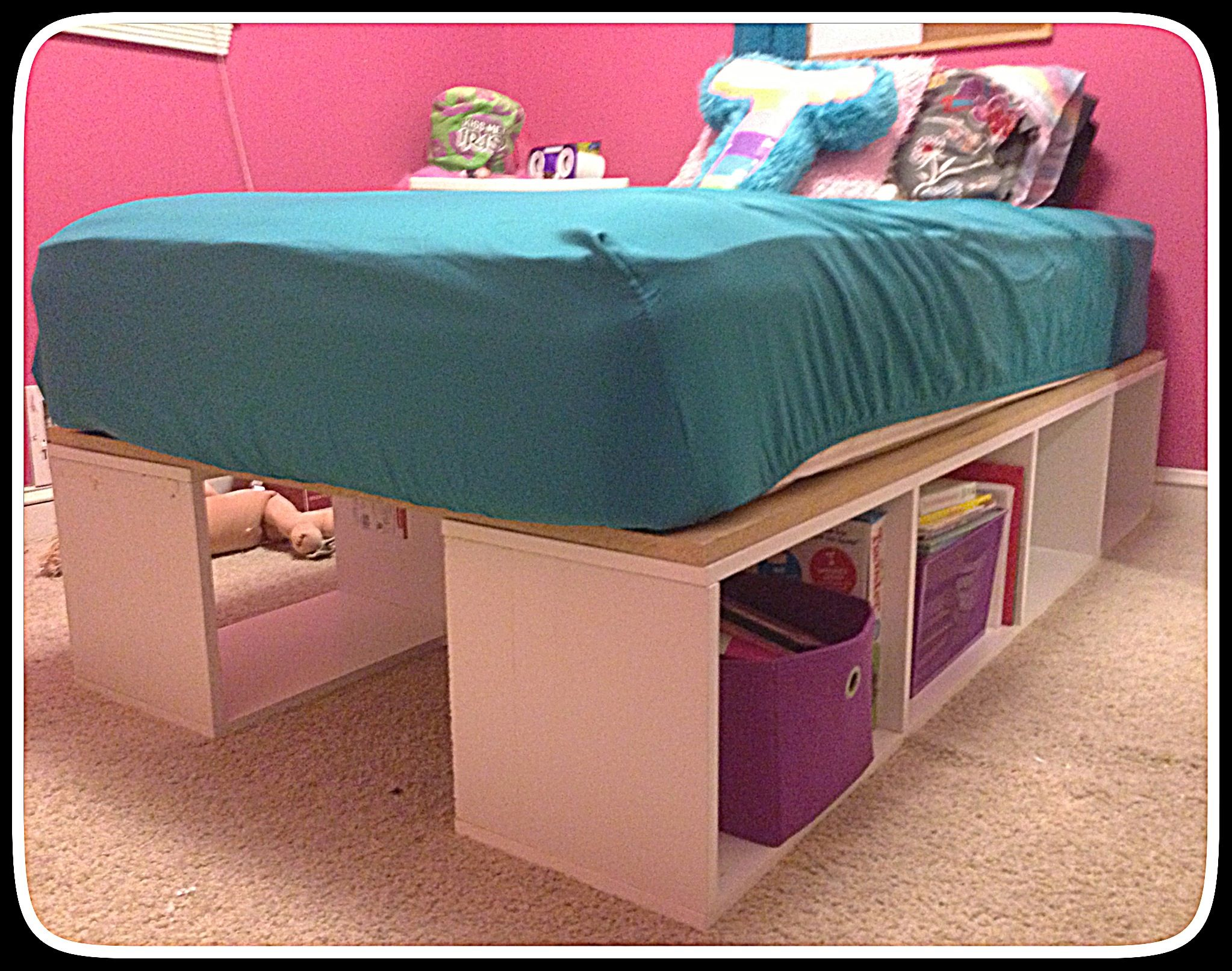 Hand made storage bed frame!!!! Love it! Bed storage