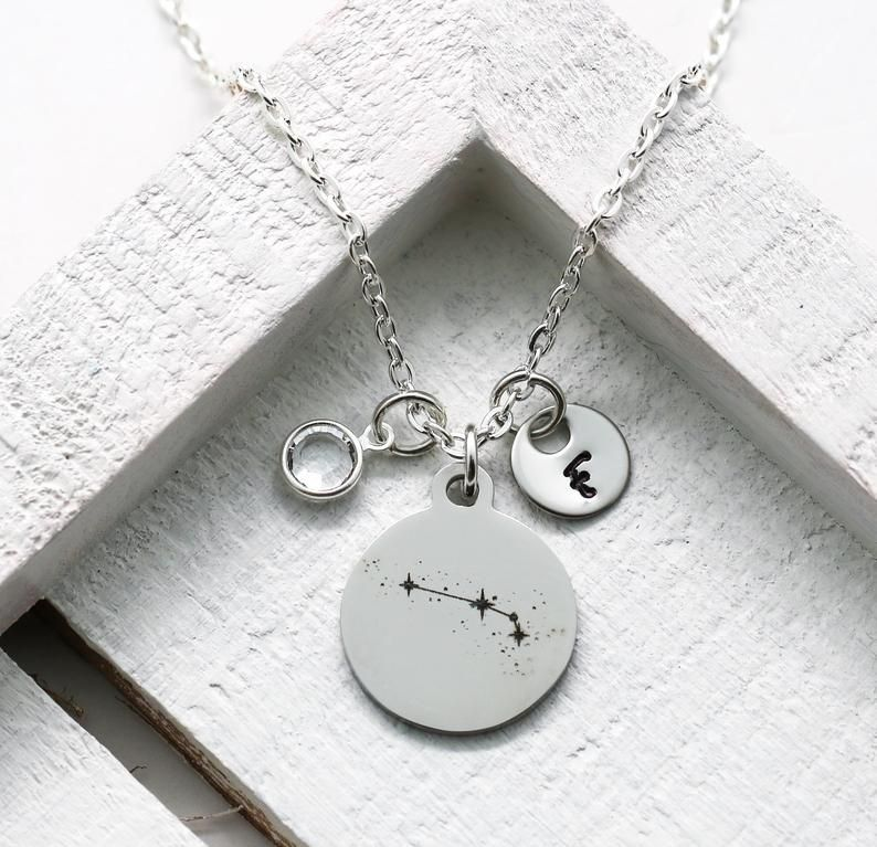 Aries constellation necklace for women personalized