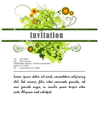 Download Free Templates for Party invitations in MS Word dinner - invitation download template