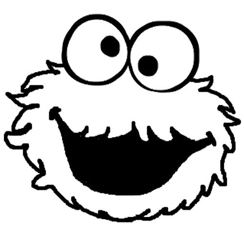 Cookie Monster Coloring Pages Free coloring pages for kids Art