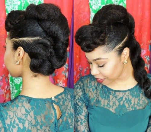50 Cute Updos for Natural Hair | Updo, Natural and Hair style