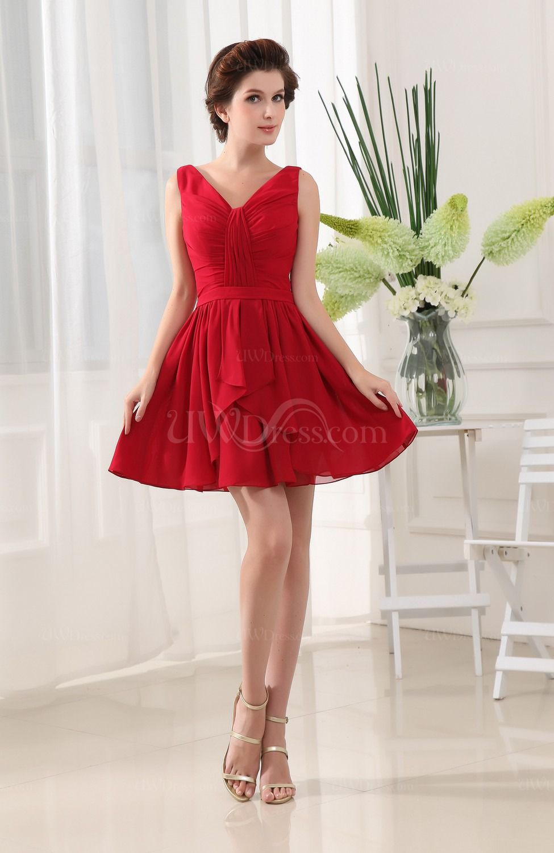 3 Clic Red Bridesmaid Dresses