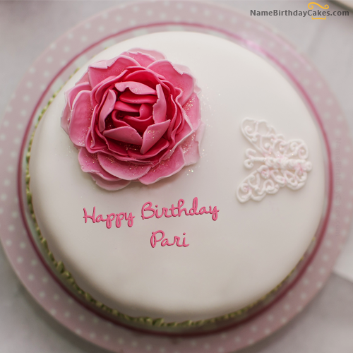 The Name Pari Is Generated On Rose Birthday Cake For Girls With Image Download And Share Cakes Images Impress Your Friends
