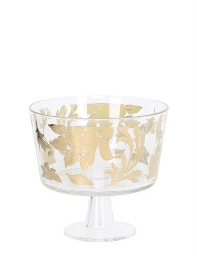 Egizia Ramage Gold Footed Bowl Transparent Lamp Shade Lamp Centerpieces