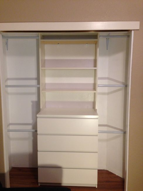 Malm And Billy Closet Diy
