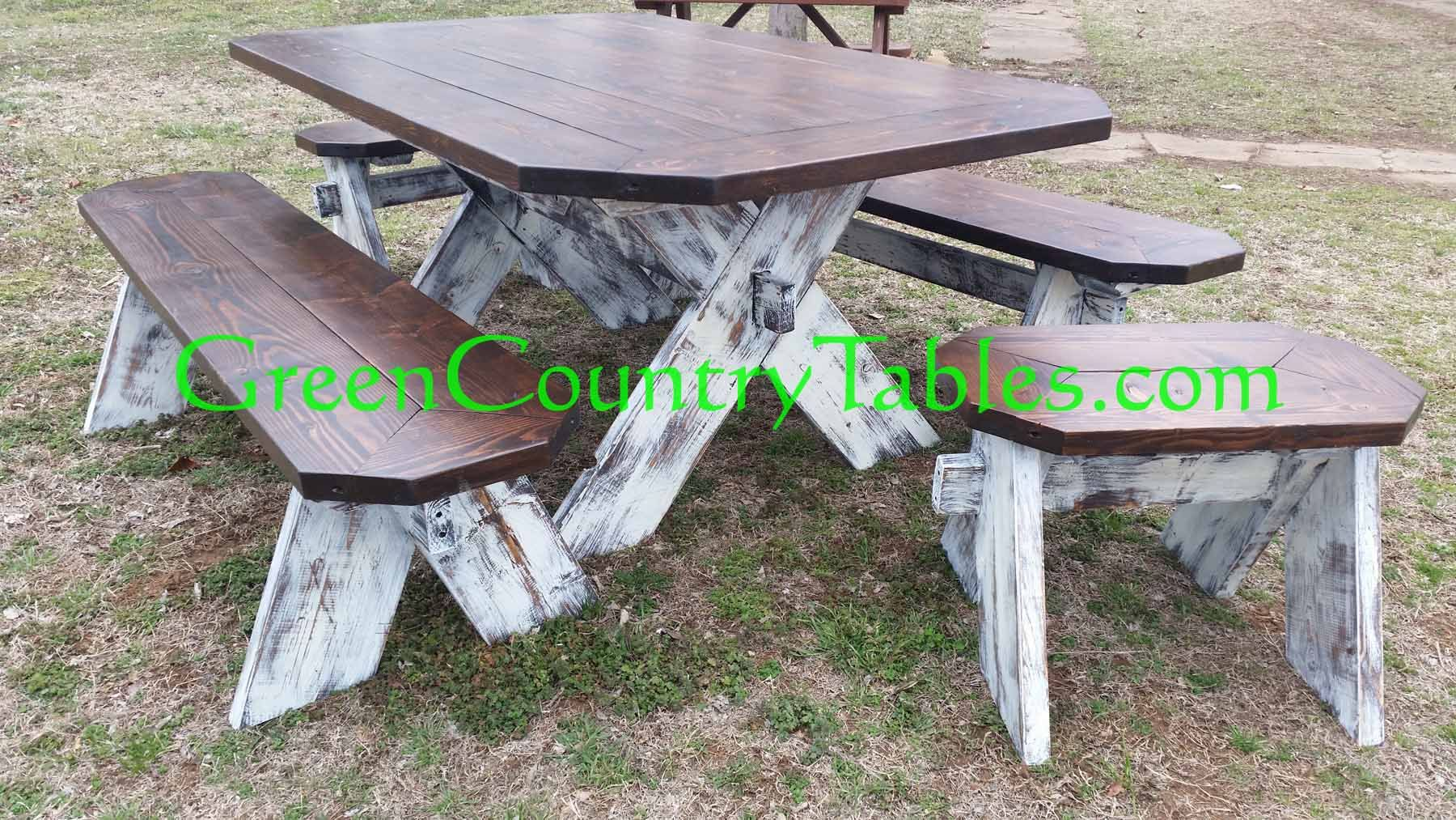 Picnic table as dining room table - Green Country Tables Farm Tables Picnic Tables Dining Room Table Sets