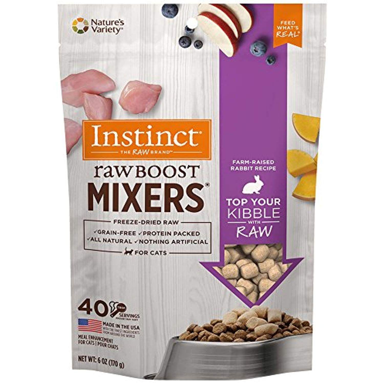Nature's Variety Instinct Raw Boost Cat Food Rabbit Mixer
