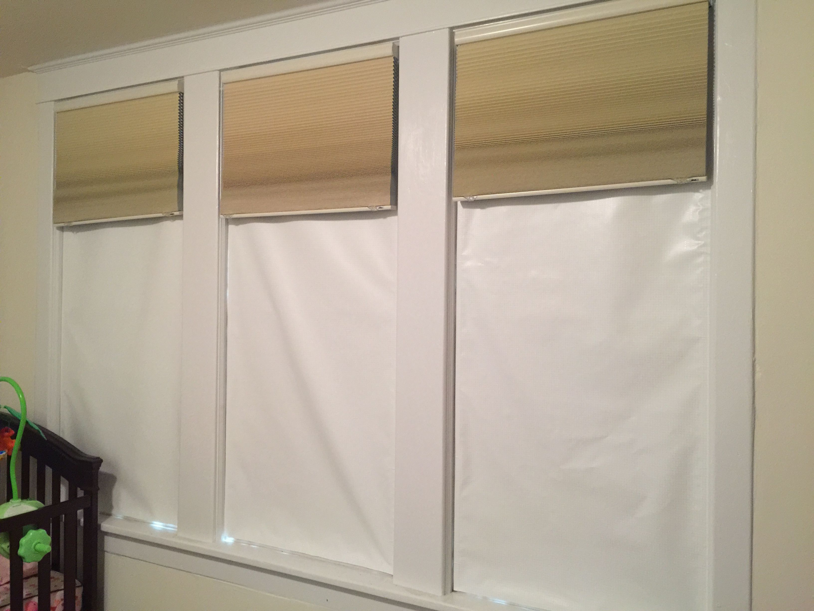 A Customer Purchased 3 Blackout Ez Window Cover Customs In Color White White For His Her Nursery Blackout Ez Win Window Coverings Window Treatments Home Decor