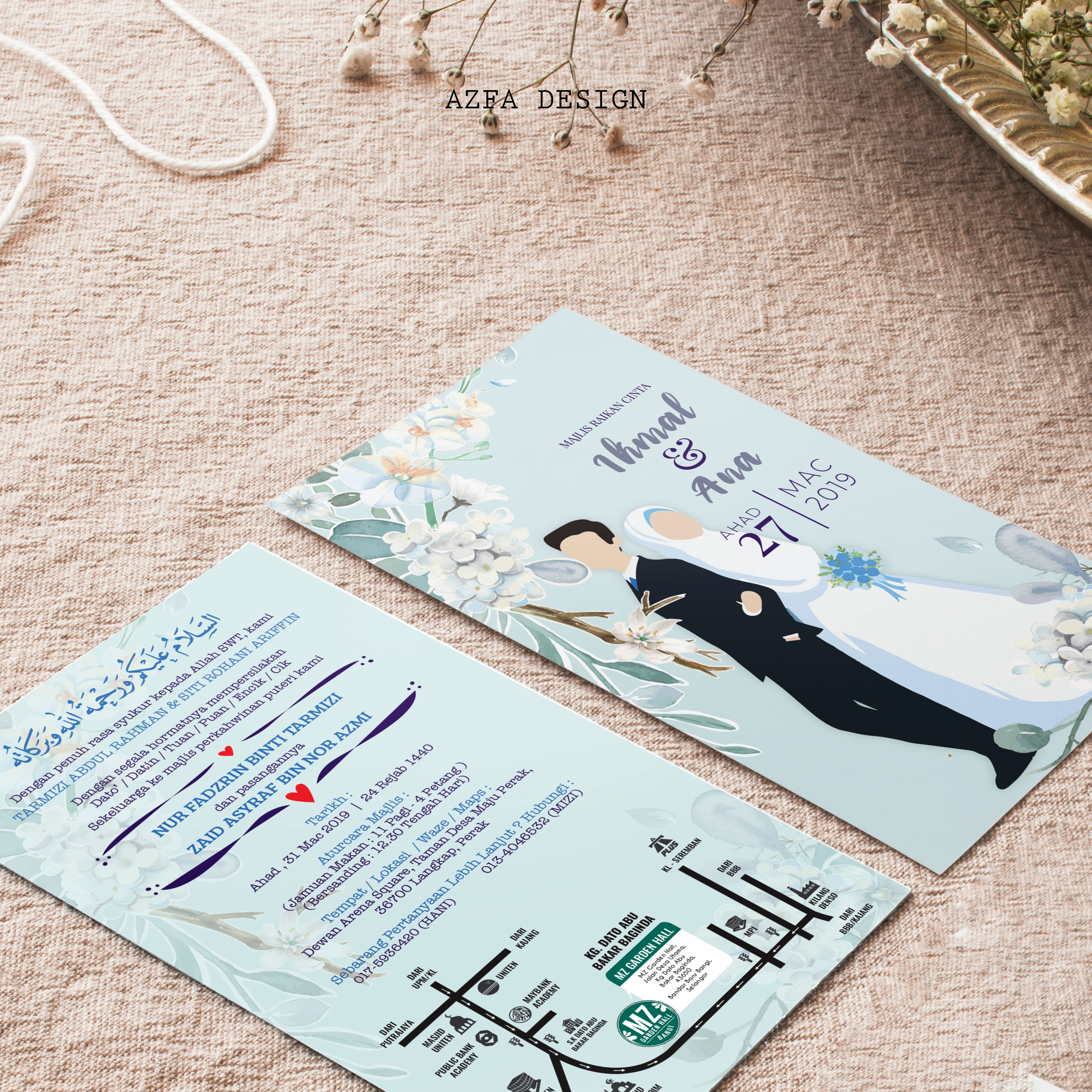 Azfadesign Kadkahwin Makin Simple Design Kad Kahwin Tu Makin Unik Sebenarnya Kan Bak Kata Oang Puteh Simple Is The B Invitation Cards Cards Invitations