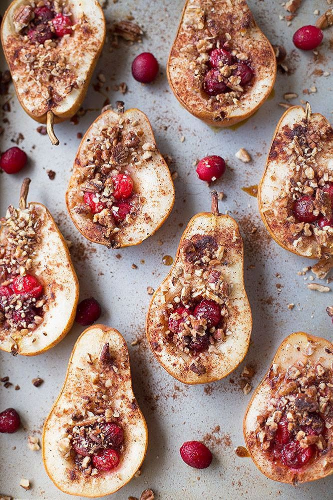 Photo of Baked Pears with Honey, Cranberries and Pecans