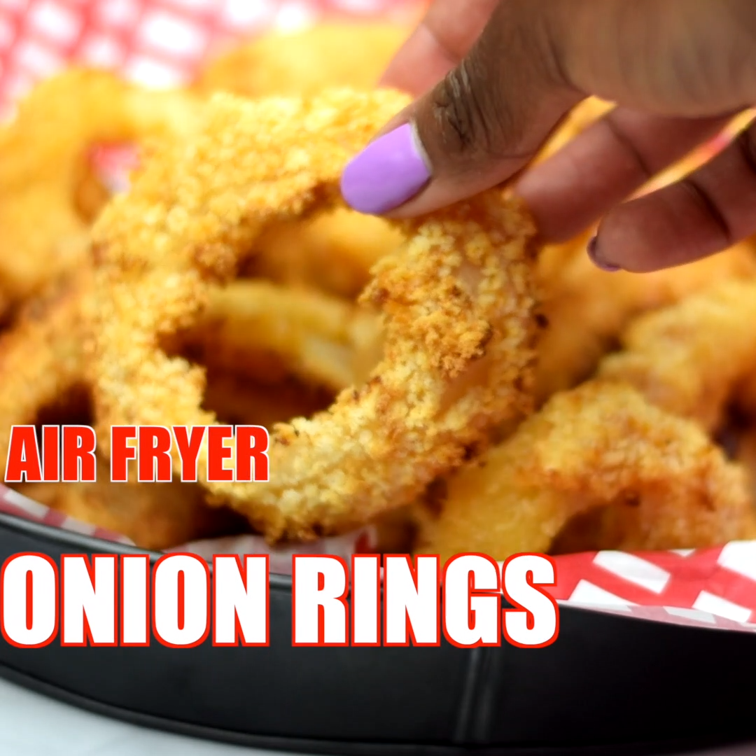 Crispy Homemade Air Fryer Onion Rings Is A Quick And Easy Recipe Prepared With A Seasoned Buttermilk Batter A Vidalia Onion And Breadcrumbs Video