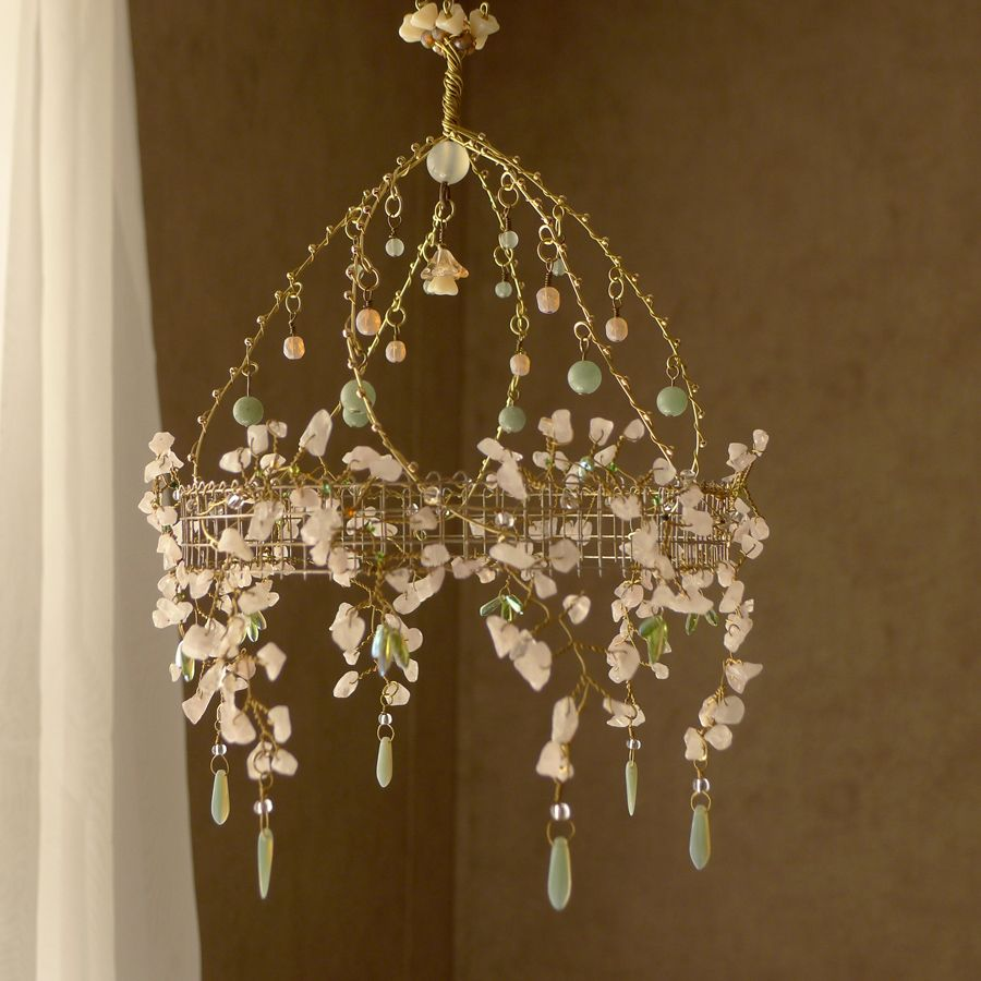 A Cherry Blossom Chandelier By Cassie Bell On Etsy Wire Crafts Diy Chandelier Crafts