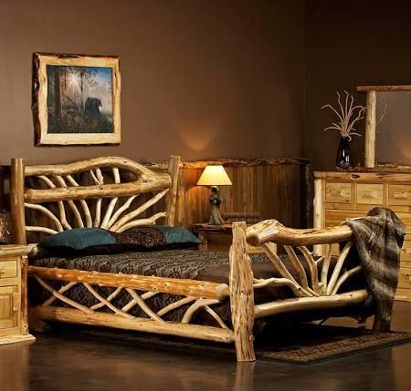 making log furniture - Google Search