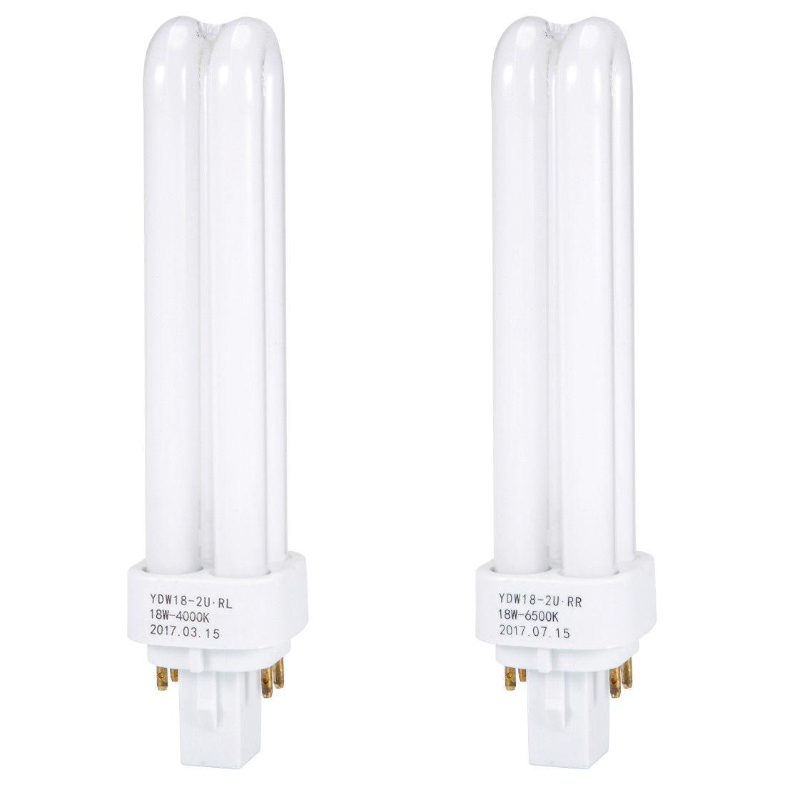 6 92 Aud 18w Pl C Lamp Bulb Double U Tube G24 Q 4 Pin Base 4000k Warm White Ac 220v Ebay Home Garden Lamp Bulb