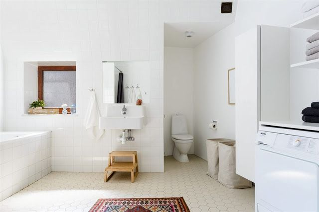 Large bathroom Emma Persson Lagerberg Mohv L Pinterest