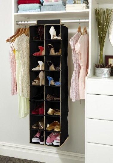 Scarpiera nell\'armadio | Scarpiera | Hanging shoe organizer, Hanging ...