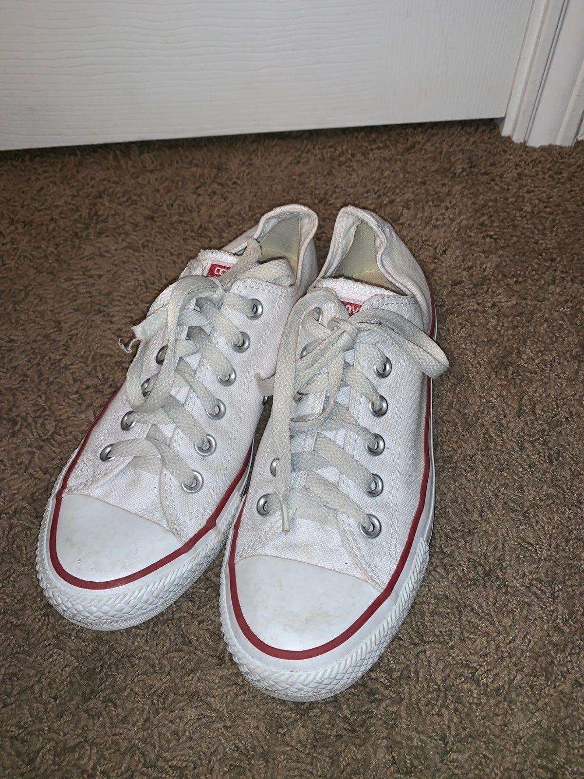 White converse. Women's size 7.5