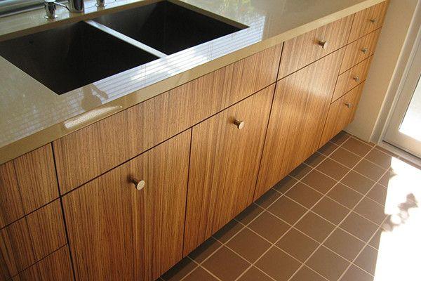 Zebrawood Veneer Cabinets