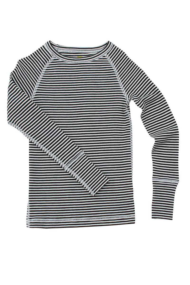 184fbb61c4 NUI Merino wool black and white striped shirt for toddler / little boys.