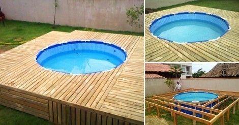 C mo hacer una cubierta econ mica para tu piscina in 2018 for Hacer piscina economica