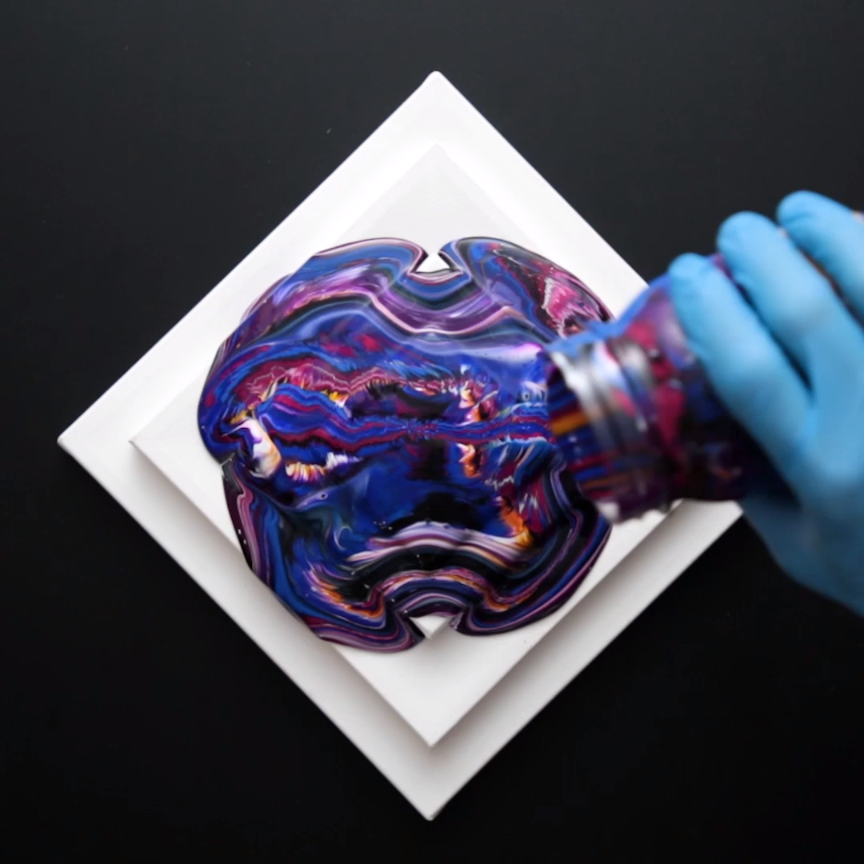 This simple painting technique yields colorful results with
