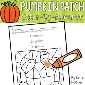 Pumpkin Patch Color-by-Number Pages | Number worksheets, Number ...