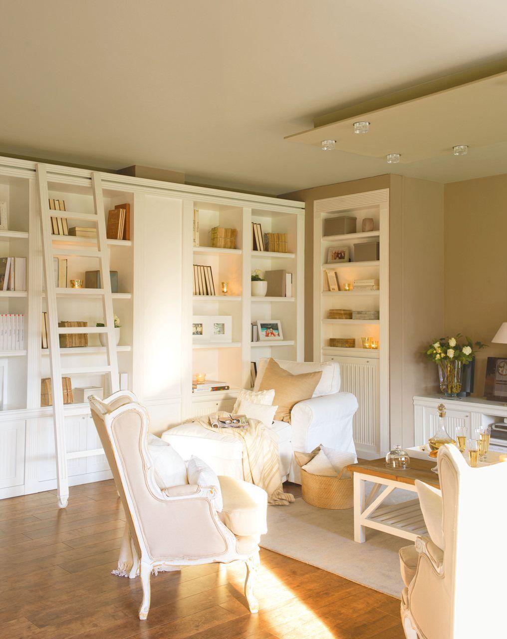 12 ideas para crear un sal n m s acogedor home book for Librerias salon modernas