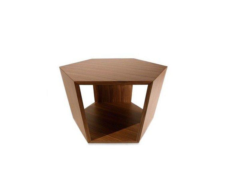 Mesita de madera de diseño con revistero integrado DIAMONDS 769 by