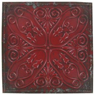 Distressed Red Metal Wall Decor Plaque Shop Hobby Lobby Decorative Wall Plaques Metal Wall Plaques Metal Wall Decor