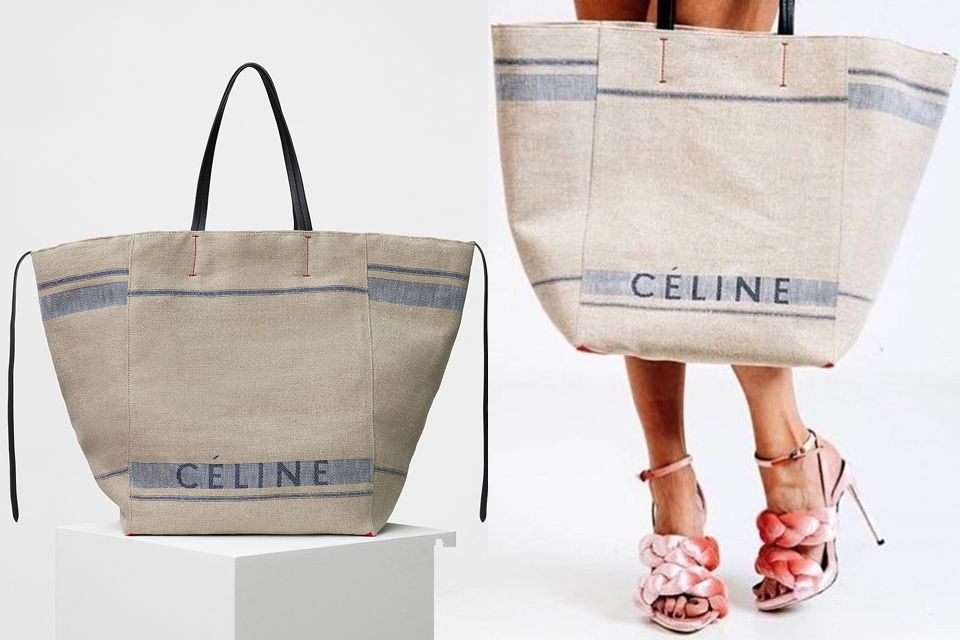 Celine Canvas Cabas Phantom Bag  3f90f083ffdc0