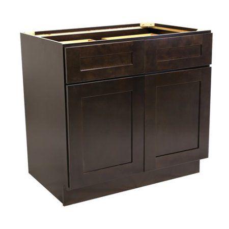 Design House 562017 Brookings 48 Inch Base Cabinet Espresso Shaker