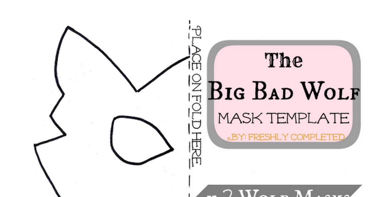 Big Bad Wolfie Template.pdf | Mask for kids | Pinterest | Pdf ...