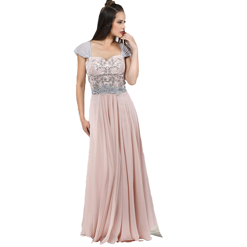 Maxi φόρεμα με τιράντες από μουσελίνα  4d190ad1e6e